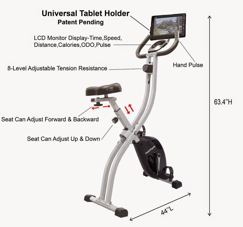 Exercise Bike Zone Innova Fitness Xb350 Folding Upright