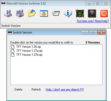 WarCraft III Version Switcher 1.26, 1.27a, 1.27b