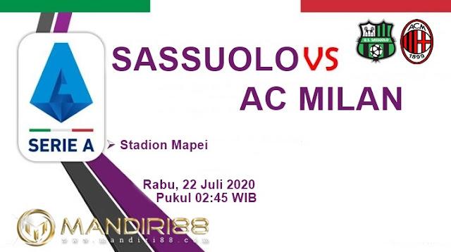 Prediksi Sassuolo Vs AC Milan, Rabu 22 Juli 2020 Pukul 02.45 WIB