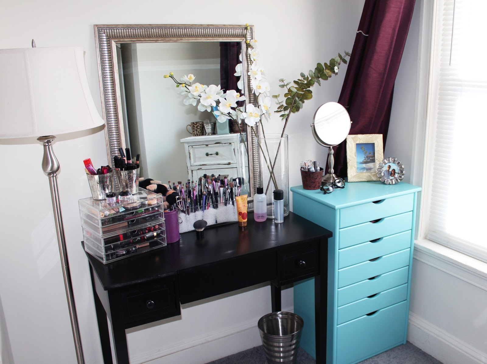 Makeup By Alli: New Makeup Storage/Organization + Room Tour! on Makeup Room Ideas  id=34796