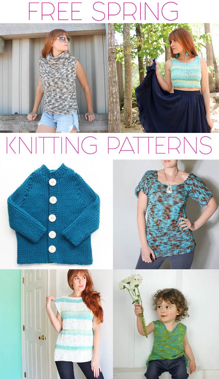 Spring Knitting Patterns : Free Spring Knitting Patterns - Gina Michele