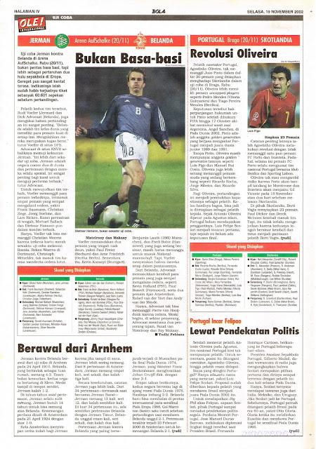 SOCCER FRIENDLY MATCH 2002 JERMAN VS BELANDA