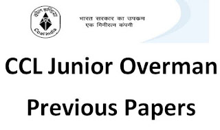 CCL Ranchi Junior Overman Previous Question Paper and Syllabus 2019-20