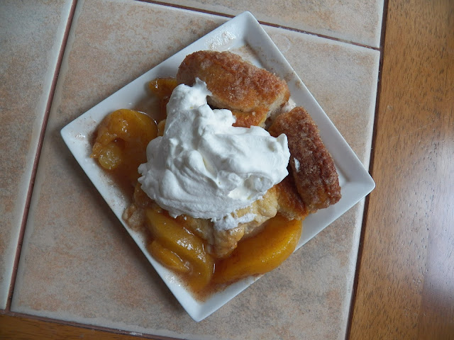 Peach Monkey Bread Cobbler