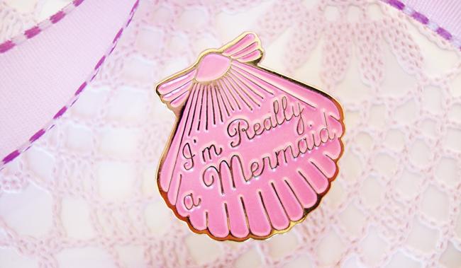 mermaid pin, I Love Crafty, giveaway