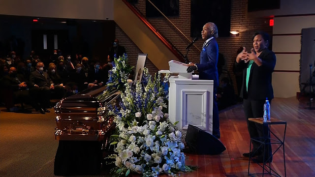 See what Reverend Al Sharpton said at George Floyd's memorial service