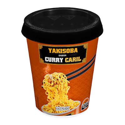 Fideos orientales Yakisoba sabor curry Hacendado