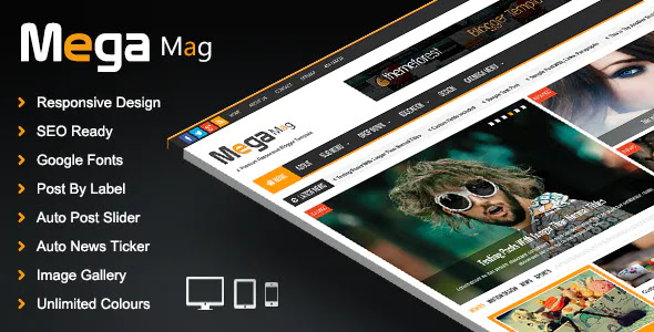 Professional Responsive Blogger Templates For News & Magazine    Professional Blogger Templates