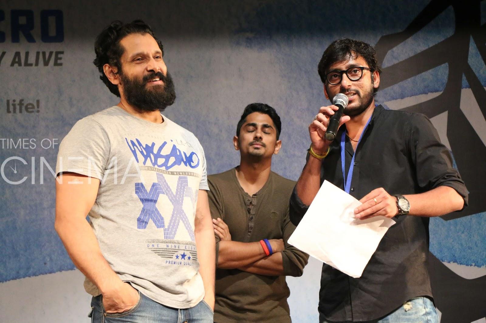 Chiyaan Vikram At Chennai Micro Stay Alive Team Meet Pics