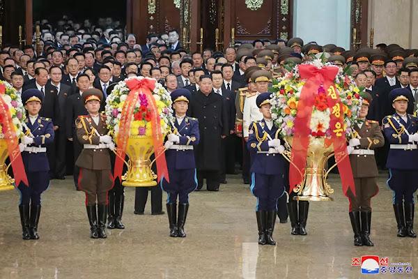 Kim Jong Un at Kumsusan Palace of Sun, January 1, 2021