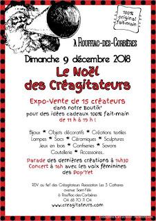 marché de Noël des Créagitateurs  à Rouffiac des Corbières