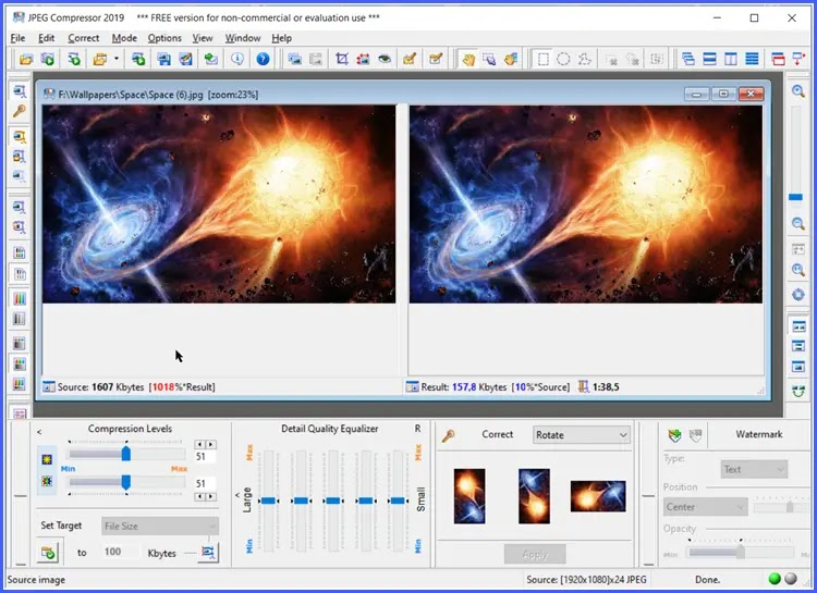 JPEG Compressor : Kορυφαίο λογισμικό για την επεξεργασία και συμπίεση των εικόνων σας