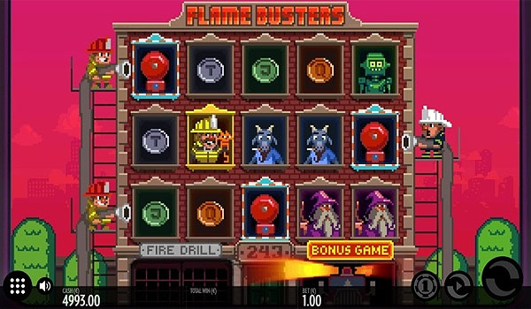 Main Gratis Slot Indonesia - Flame Busters (Thunderkick)