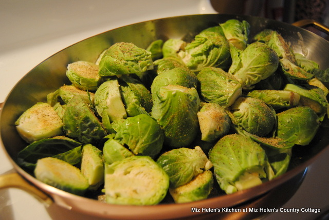 Baked Pepper Jelly Brussels Sprouts at Miz Helen's Country Cottage