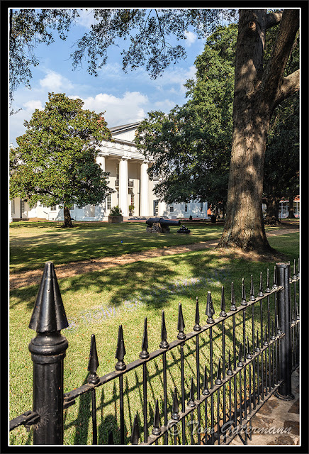 A fence in front of the Old State House Museum In Little Rock, Arkansas.