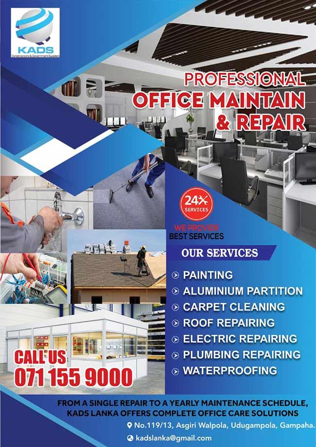 Professional Office Maintenance and Repair.