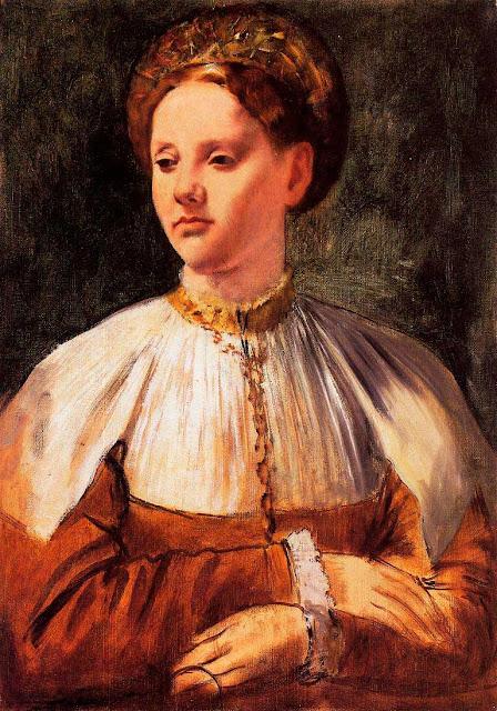 Эдгар Дега - Портрет молодой женщины (1858-1859)
