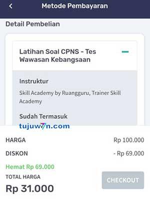 Membeli pelatihan prakerja lewat skill academy