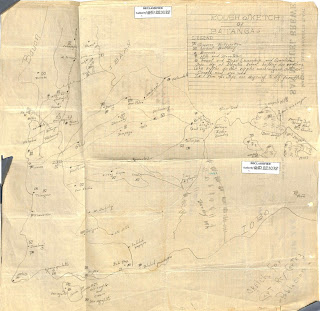 "Intel Report with Sketch from Agent ""C"" on Japanese Movements in San Juan"