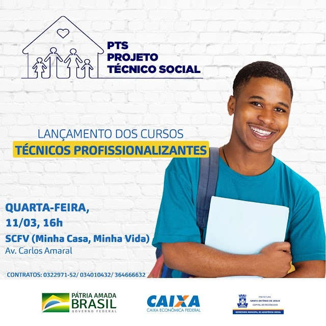 Prefeitura lança Cursos Técnicos Profissionalizantes para famílias do MCMV