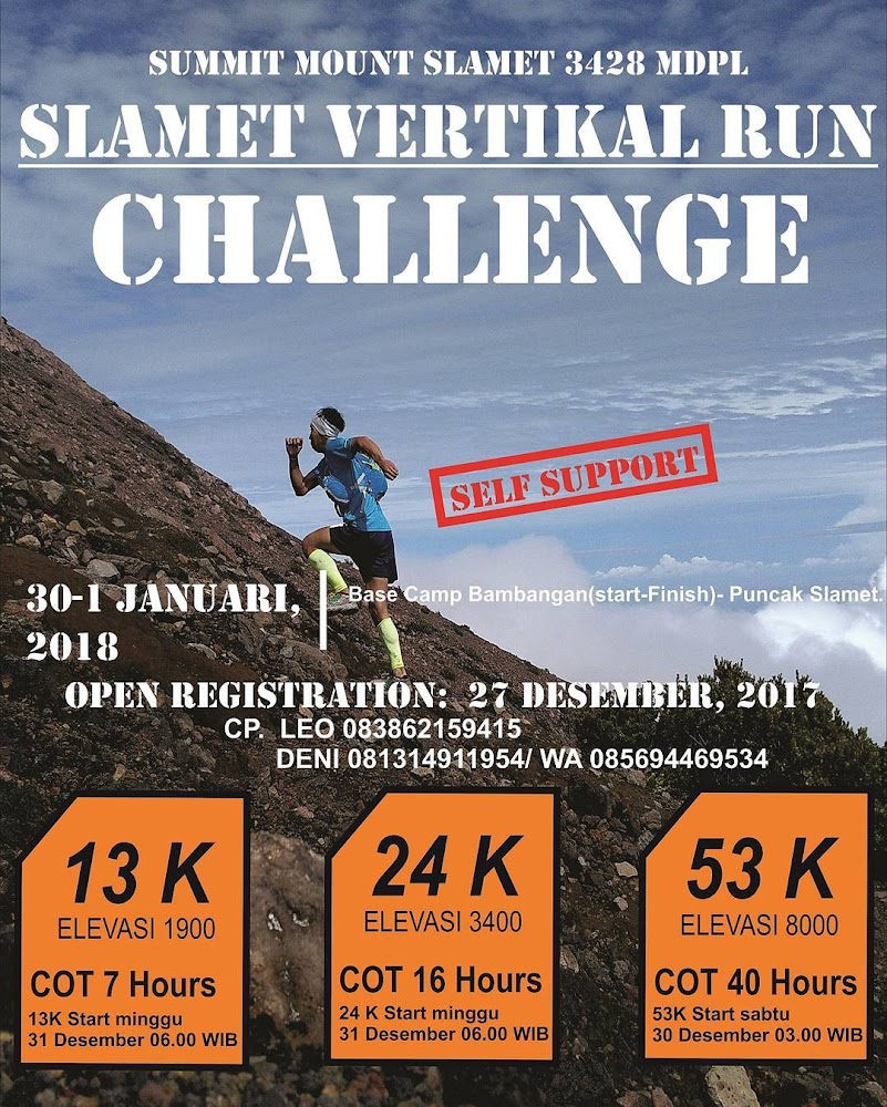 Slamet Vertical Run Challenge • 2018