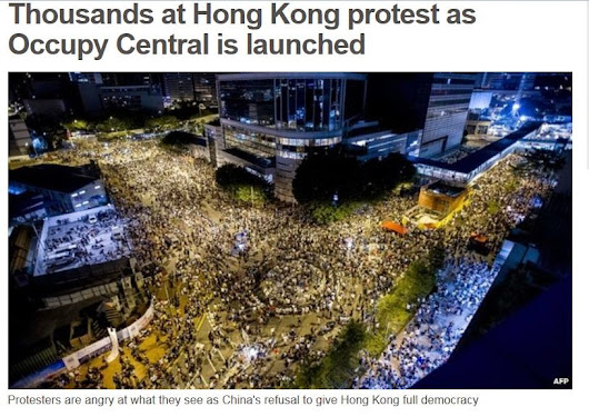Hong Kong's #Occupy Central pro-democracy movement has announced the launch of a mass disobedience campaign