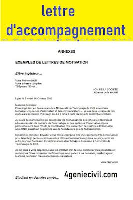 Exemple de modèle de lettre d'accompagnement manuscrit