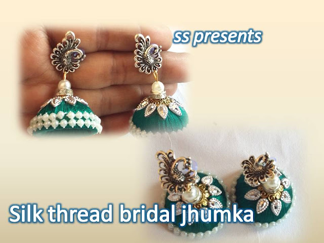 Here is silk thread jewellery making,pearls jewellery,beads jewellery,paper jewellery,fabric jewellery,quilling jewellery,silkthread jewellery making at home,How to make silk-thread-designer-peacock- jhumkas-ssarts-youtube-channel-videos