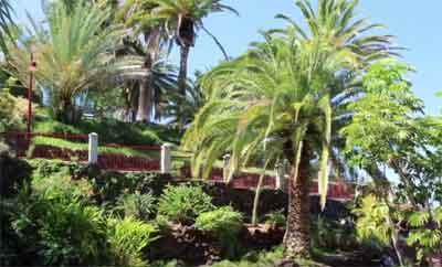 La Atalaya y sus jardines, en el parque de El Taoro de Puerto de la Cruz