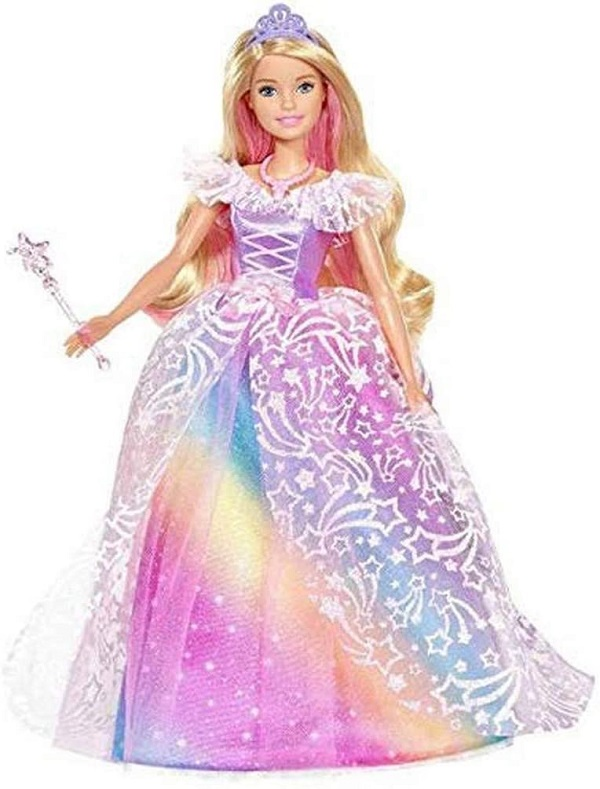 BARBIE DREAMTOPIA RAINBOW COVE Кукла принцеса с бална рокля