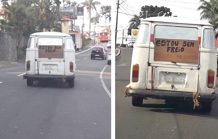 Sem freios, 'Kombosa' de Castro apavora nas ruas de PG