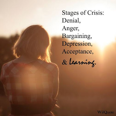 Stages of Crisis: Denial, Anger, Bargaining, Depression, Acceptance, & Learning