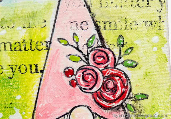 Layers of ink - Gnome Home Mixed Media Canvas Tutorial by Anna-Karin Evaldsson.