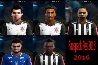 Facepack Brasileirão 2016 Pes 2013