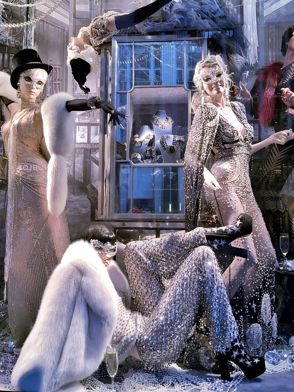 Window display at Bergdorf Goodman, New York City