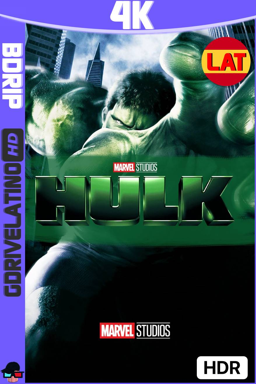 Hulk (2003) BDRip 4K HDR Latino-Ingles MKV