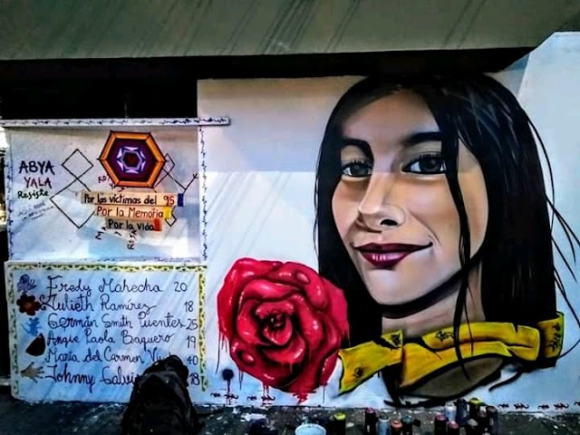 Pintan nuevamente el graffiti en honor a julieth asesinada por la policía