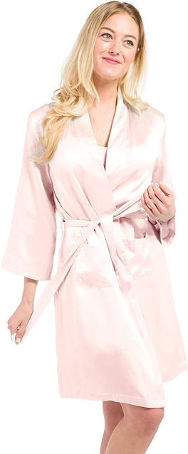 Silk Pink Robes For Women