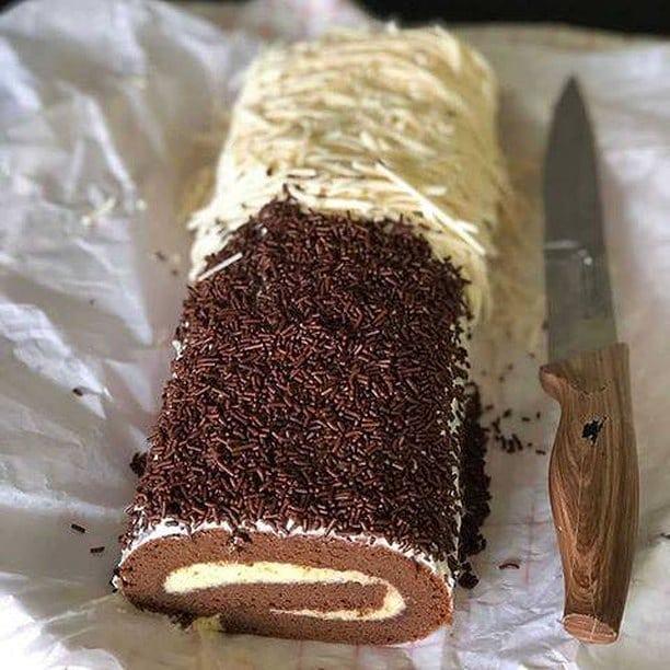 Resep Sajian Tiramisu Roll Cake Cantik dan Manis