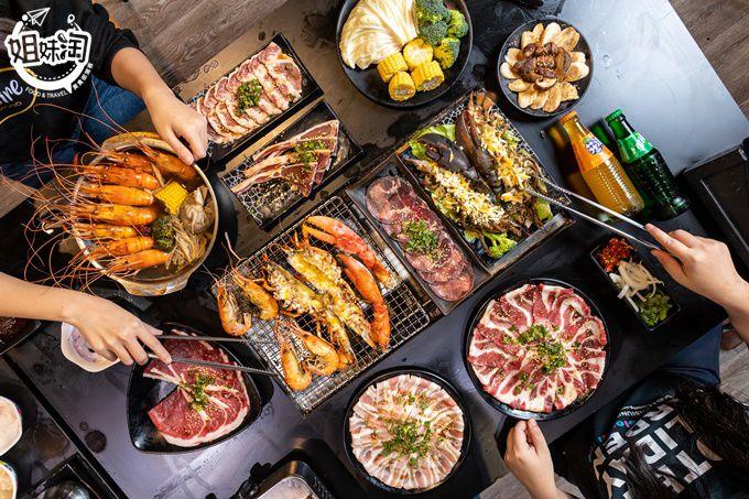 環境乾淨又明亮,超大肥美泰國蝦,想吃多少就撈多少,不怕你吃讓你呷免驚!-野饌日式燒肉吃到飽富民店
