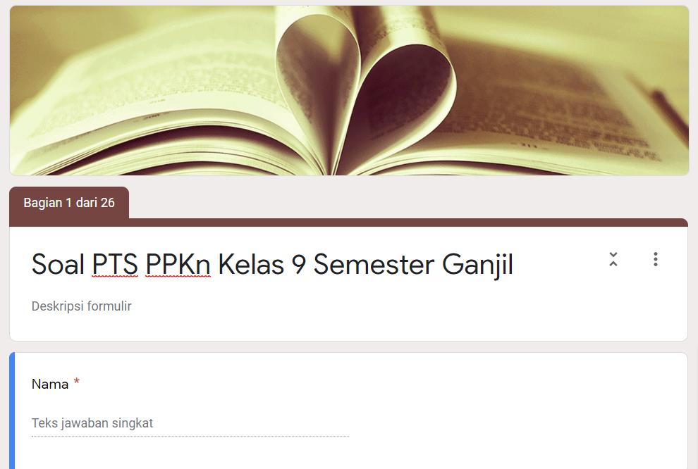 Soal Pts Online Ppkn Kelas 9 Semester Ganjil Didno76 Com