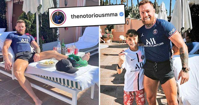 Conor McGregor backs PSG on Instagram, talks Messi move