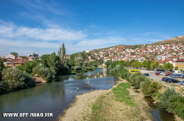 Vardar River - Veles city - Macedonia