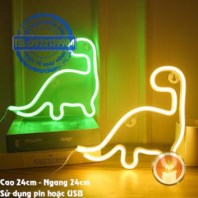 Đèn led neon khủng long