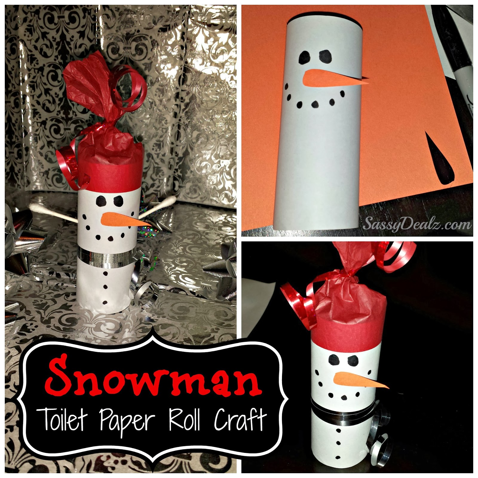 Snowman Toilet Paper Tube Craft