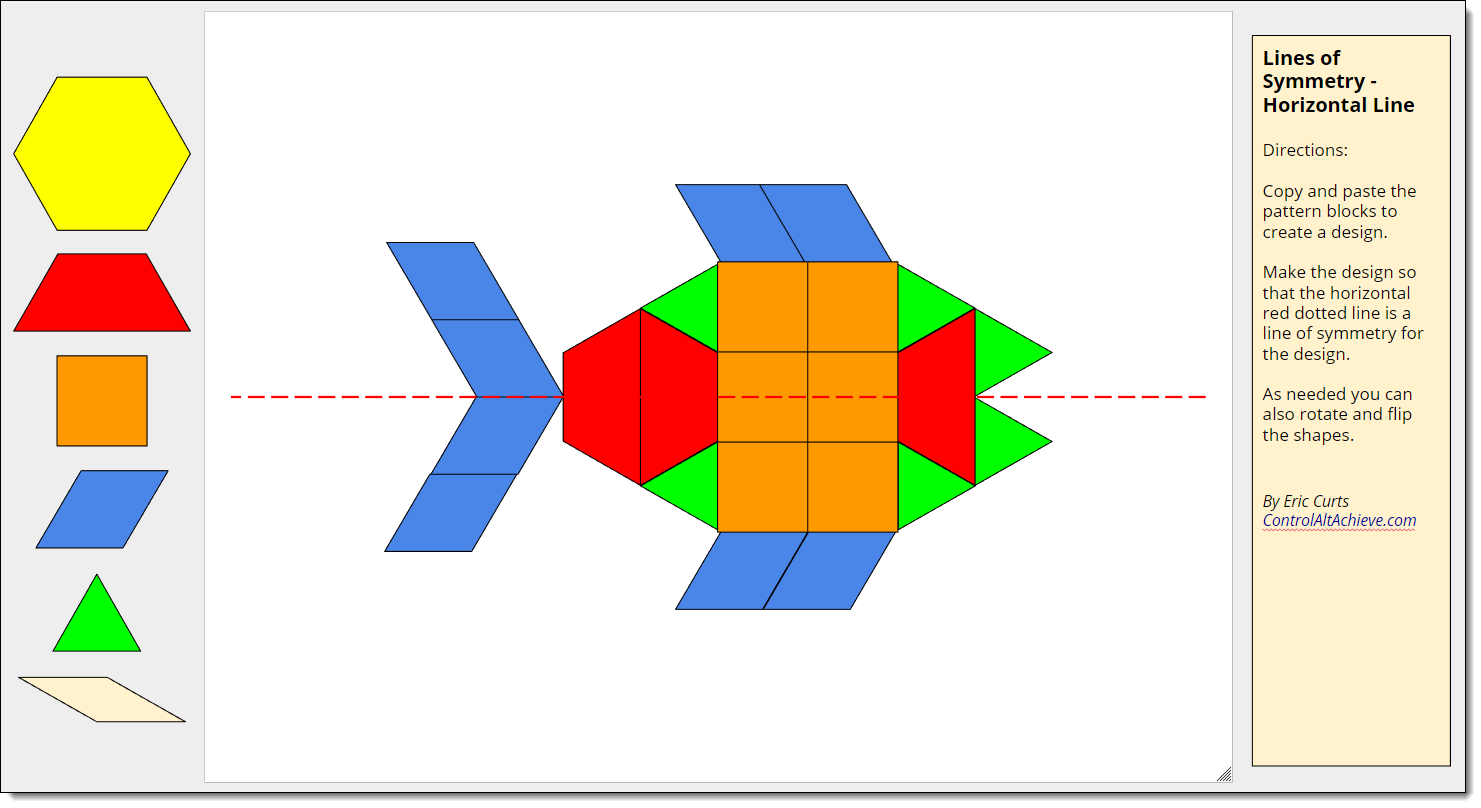 Control Alt Achieve: Pattern Block Templates and Activities with Google  Drawings [ 808 x 1481 Pixel ]