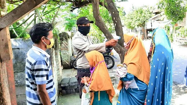 BKTM Desa Ketangga Jeraeng Terapkan Protokol Covid-19 di TPQ Nurul Islah
