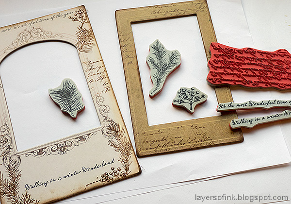 Layers of ink - Vintage Christmas Frame Tutorial by Anna-Karin Evaldsson.
