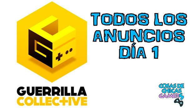 Anuncios Guerrillal Collective Día 1