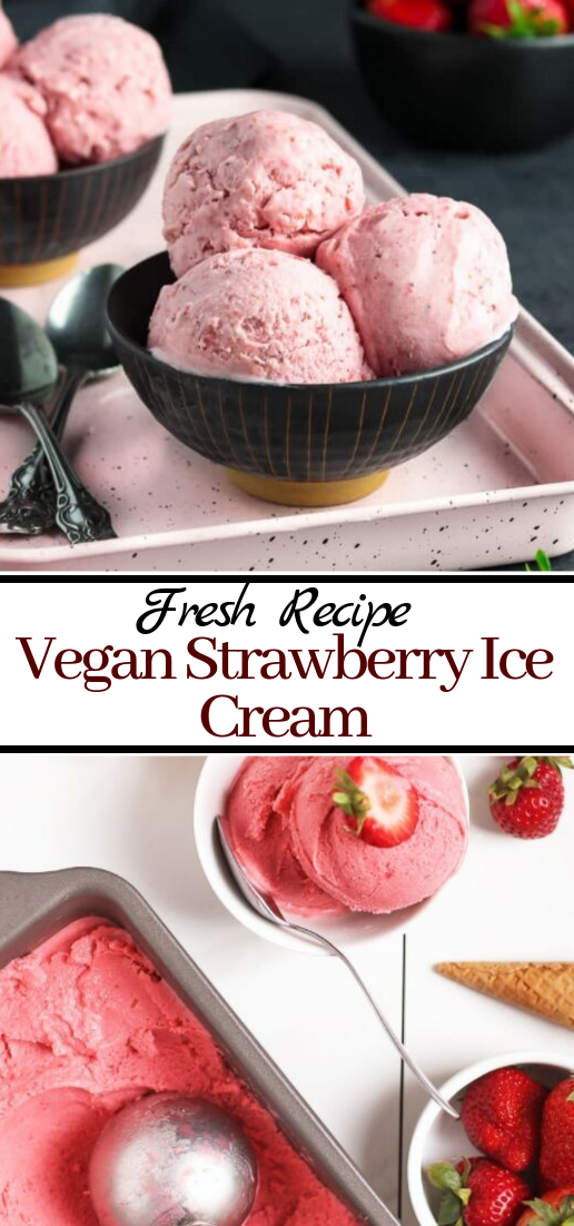 Vegan Strawberry Ice Cream #desserts #cakerecipe #chocolate #fingerfood #easy